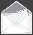 White envelope vector
