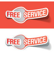 Free service labels vector