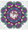 Floral background with diamond jewel vector