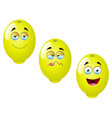 Cartoon lemon fruit set 4 vector