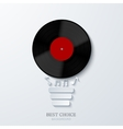 Modern concept light bulb and vinil vector