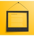 White frames on the yellow wall vector