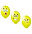 Cartoon lemon fruit set 2 vector