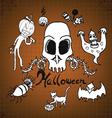 Doodles halloween on paper vector