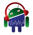 Android music logo vector