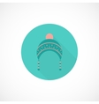 Hat icon in flat style vector