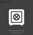 Bank safe premium icon white on dark background vector