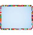 World flags frame vector