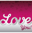 Love you textured heart card in format vector