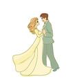 Wedding dancing couple vector