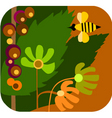 Bees in garden vector