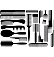 Set of different combs vector