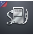 Gas fuel station icon symbol 3d style trendy vector