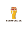 Beer and burger concept beerburger vector