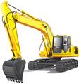 Large excavator vector