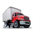Cartoon delivery cargo truck vector