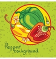 Backgroundof colored bell peppers vector