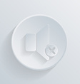 Circle icon with a shadow loudspeaker vector