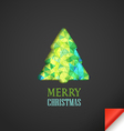 Christmas greeting card with abstract vector