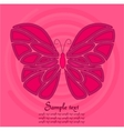Pink butterfly background vector