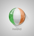 European flags set - ireland vector