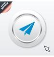 Paper plane sign airplane symbol travel icon vector