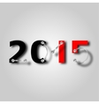 New year 2015 with plate and screws vector