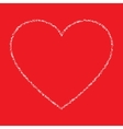 White hand drawn thin contour grunge heart vector