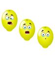 Cartoon lemon fruit set 3 vector
