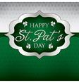 Saint patricks day card in format vector