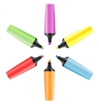 Set of realistic colored markers vector