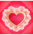 Valentines day card with beautiful roses vector