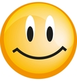 Emoticon with smiley face yellow web icon vector