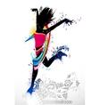 Grungy dancer vector