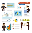 Business infographic workflow vector