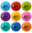 Round icons with batteries vector