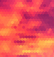 Sundown themed background with hex grid vector