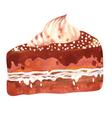 Watercolor cake vector