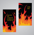 Flame business card template vector