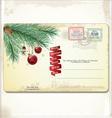 Old christmas card vector