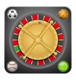 Symbol roulette casino for sports betting with vector