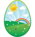 Easter card with two hand drawn eggs vector