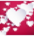 Geometric mosaic hearts template eps 10 vector