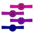 Set of elegant silk colored bows vector