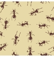 Seamless pattern with cute many brown ants on vector