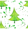 Christmas tree in watercolor trending style vector