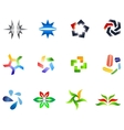 12 colorful symbols set 4 vector