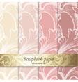 Floral pattern scrapbook paper vector