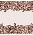 Style waves abstract hand-drawn pattern background vector
