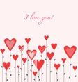 Growing hearts vector
